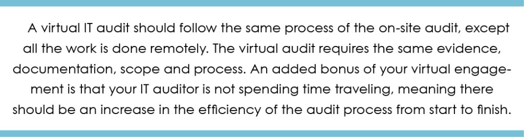 Virtual IT audit quote